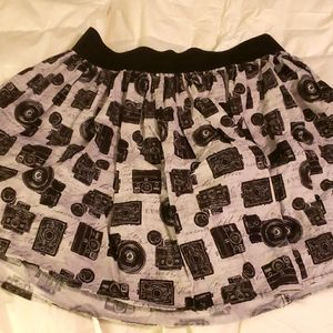Boutique camera print skirt